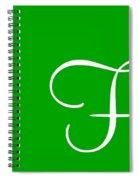 F In White Simple Script Spiral Notebook