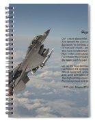 F16 - High Flight Spiral Notebook
