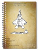 F22 Raptor Blueprint Spiral Notebook