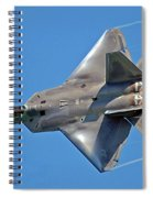 Fa 22 Raptor From Air Show Spiral Notebook