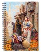Fabio Fabbi Orange Seller Spiral Notebook