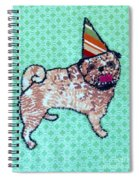 Fabric Pug Spiral Notebook