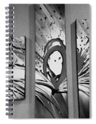Face In Space B W I Spiral Notebook
