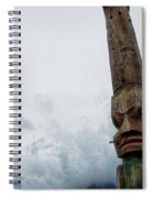 Face In The Clouds Spiral Notebook