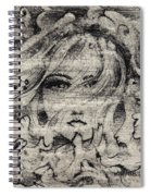 Face In The Storm Spiral Notebook
