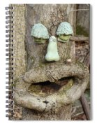 Face In The Woods Spiral Notebook