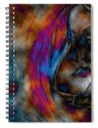 Face Of A Girl Spiral Notebook