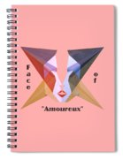 Face Of Amoureux Text Spiral Notebook