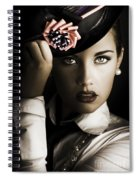 Face Of Dark Fashion Spiral Notebook