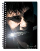 Face Of Fear And Danger Spiral Notebook