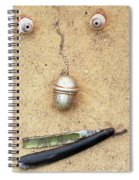 Face On The Sand Spiral Notebook