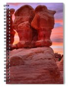 Faces And Fire Spiral Notebook