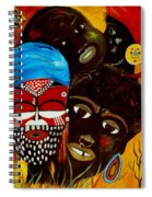 Faces Of Africa Spiral Notebook