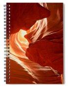 Faces Of Light Spiral Notebook