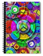 Faces Of Time 1 Spiral Notebook