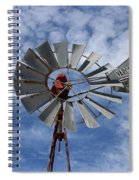 Facing Into The Breeze Spiral Notebook