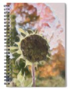 Faded Flower Spiral Notebook