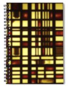 Faded Rectagles Spiral Notebook