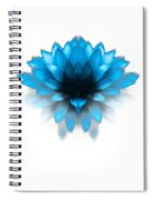 Fading Blues Spiral Notebook