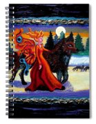 Faerie And Wolf Spiral Notebook