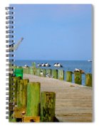 Fairhope Fisherman With Cast Net Spiral Notebook