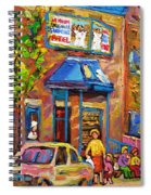 Fairmount Bagel Fairmount Street Montreal Spiral Notebook