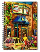 Fairmount Bagel In Montreal Spiral Notebook