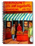 Fairmount Fruit And Vegetables Spiral Notebook