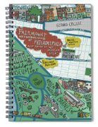 Fairmount Neighborhood Map Spiral Notebook