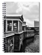 Fairmount Water Works In Black And White Spiral Notebook
