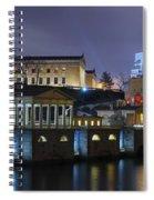 Fairmount Waterworks And Art Museum At Night Spiral Notebook