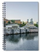 Fairmount Waterworks And Philadelphia Art Museum In The Morning Spiral Notebook