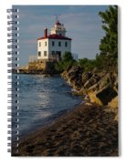 Fairport Harbor Lighthouse Panoramic Spiral Notebook