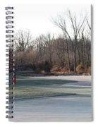 Fairway Hills - 7th - Beware Of The Tree And The Pond Panorama Spiral Notebook