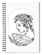 Fairy Cameo Spiral Notebook