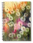 Fairy Dandelions Fields Spiral Notebook