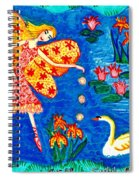 Fairy Feeding Swan Spiral Notebook