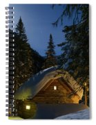 Fairy House In The Forest Moonlit Winter Night Spiral Notebook