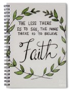 Faith Laurel Wreath Spiral Notebook
