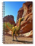 Falcarius Among Cliffs Spiral Notebook