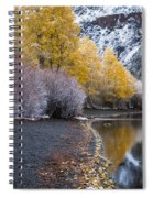 Fall And Winter At Silver Lake Spiral Notebook