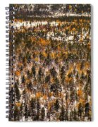 Fall And Winter On The Same Day Spiral Notebook