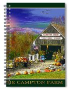 Fall At The Campton Farm Spiral Notebook