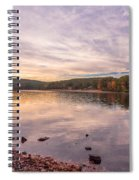 Fall At The Pond Spiral Notebook