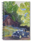 Fall Barn  Spiral Notebook