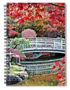 Fall Bridge In Manito Park Spiral Notebook