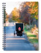 Fall Buggy Spiral Notebook