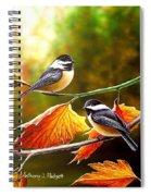 Fall Chickadees Spiral Notebook