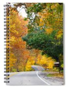 Fall Color Along Road  5643 Spiral Notebook