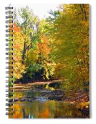 Fall Color On Creek  5597 Spiral Notebook